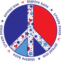Fourth of July Peace Sign