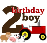 Farm Tractor Birthday Boy