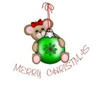 Christmas Mouse Green Ornament