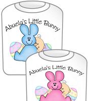 Abuela's Little Bunny TShirt Pink & Blue