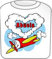 Love Abuela T-Shirt Cute Airplane