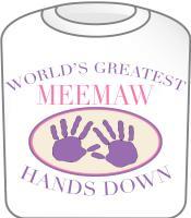 Best Meemaw Hands Down T-shirt Design