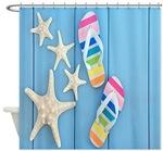 Beach Themed Shower Curtains