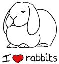 I Love Rabbits T-Shirts & Gifts