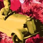 Vintage car boy