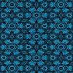 Black and Blue String Art 4406