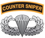 Counter Sniper Tab over Basic Airborne Wings