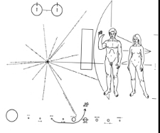 Pioneer 10 Greeting Plaque<br>Space Gift Shop