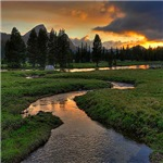 Sunset Tuolumne Meadows