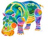 Hippo in Many Colors