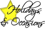 Holidays & Occasions Section