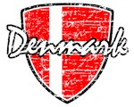 Danish distressed football shield design