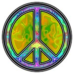 Rainbow Psychedelic Peace Symbol