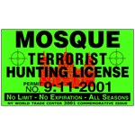 Mosque Terrorist Hunting License