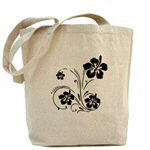 Tote Bags Personalized With Flowers