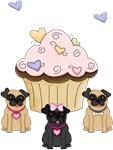 Pug Dog Cupcakes