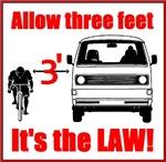3 feet it's the law!