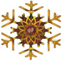 Bronze and Gold Snowflake