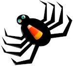 Candy Corn Halloween Spider