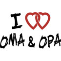 I Love Oma and Opa T-Shirt Gifts