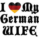 I Love My German Wife T-Shirt Gifts