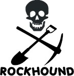 Rockhound Skull Cross Pick Shovel T-Shirts