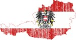 Austria State Ensign Flag And Map