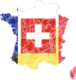 French Language Flag And Map