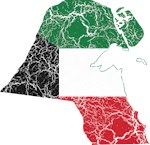 Kuwait Flag And Map