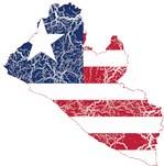 Liberia Flag And Map