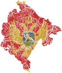 Montenegro Flag And Map