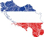 Yugoslavia Flag And Map