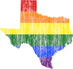 Texas Rainbow Pride Flag And Map