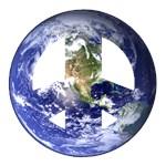 World Peace Sign Western Hemisphere