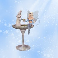 Fairy at the fountain