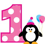 Girl Penguin 1st Birthday