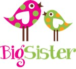 Polka Dot Birds Big Sister