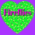Fireflies Lime Green Heart