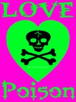 Love Poison Sinful Cyan Skull Heart