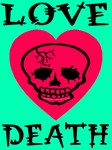 Death of Love Jadded Skull Heart