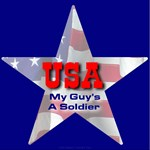 USA Patriotic Star My Guys's A Soldier