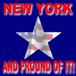 New York Patriotic Flag Star