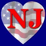Love NJ Flag Heart