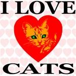 I Love Cats Heart Mosaic