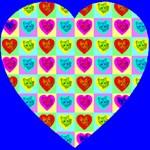Cat Heart Of Hearts Blue