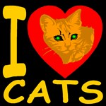 I Love Cats Blackgold