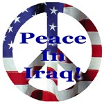 Peace Symbol Peace In Iraq Blue Font