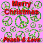 Merry Christmas Peace & Love Aerial Cyan