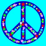 Peace Symbol Stars Skyblue