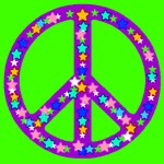 Peace Symbol Stars Lime